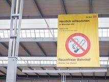 Estação central de Munich não fumadores Fotografia de Stock