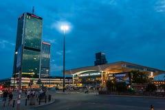 Estação central poland de Varsóvia Fotos de Stock
