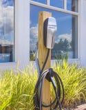 Estação cobrando de carro elétrico na celebração florida Estados Unidos EUA Imagens de Stock Royalty Free