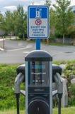 Estação cobrando do veículo eléctrico Imagens de Stock