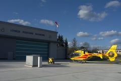 Estação da ambulância de ar Foto de Stock Royalty Free