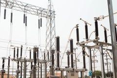 Estação da autoridade da eletricidade, central elétrica fotografia de stock royalty free