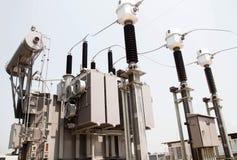 Estação da autoridade da eletricidade, central elétrica imagens de stock