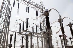 Estação da autoridade da eletricidade, central elétrica fotos de stock