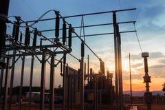 Estação da autoridade da eletricidade, central elétrica foto de stock