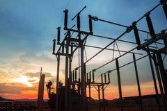 Estação da autoridade da eletricidade, central elétrica foto de stock royalty free