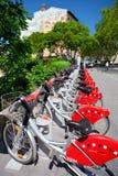 Estação da bicicleta da rua no leão Fotografia de Stock