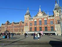 Estação da central de Amsterdão Fotografia de Stock Royalty Free
