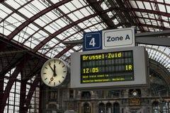 Estação da central de Antuérpia Foto de Stock