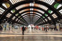Estação da central de Milão. Fotografia de Stock