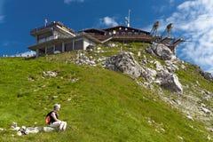 Estação da cimeira no chifre da névoa Imagens de Stock Royalty Free