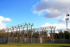 Estação da corrente eléctrica Fotografia de Stock