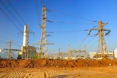 Estação da energia eléctrica. Fotografia de Stock