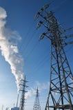 Estação da energia eléctrica Fotografia de Stock Royalty Free