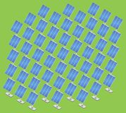 Estação da energia solar isométrica Imagem de Stock Royalty Free