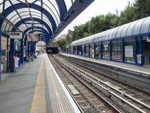 Estação da igreja DLR da curva Fotografia de Stock