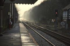 Estação da ponte de Hebden Fotografia de Stock Royalty Free