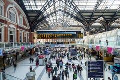 Estação da rua de Liverpool - opinião do interior fotografia de stock