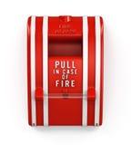 Estação da tração do alarme de incêndio fotografia de stock