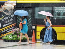 Estação das chuvas em Banguecoque Imagem de Stock Royalty Free