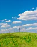 Estação das energias eólicas Imagens de Stock Royalty Free