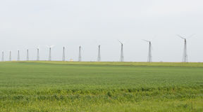 Estação das energias eólicas Fotografia de Stock