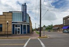 A estação de ônibus do galgo em Clarksdale, Mississippi foto de stock royalty free