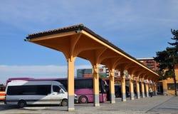 Estação de ônibus em Prizren fotos de stock