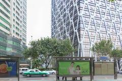 Estação de ônibus em Xiamen foto de stock