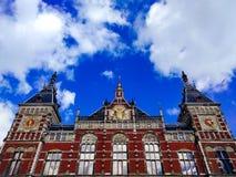 Estação de Amsterdão Centraal foto de stock