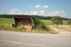 Estação de autocarro abandonada Fotos de Stock Royalty Free