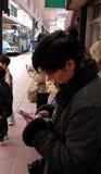 Estação de autocarro urbana Fotografia de Stock