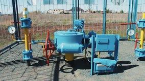 Estação de bomba para o gás de bombeamento Fonte do gás natural ao público Negócio rentável Petróleo e indústria do gás produção filme
