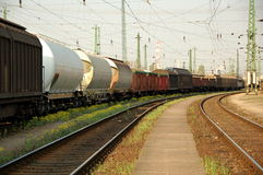 Estação de caminhos-de-ferro Imagens de Stock