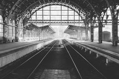 Estação de caminhos-de-ferro Fotos de Stock Royalty Free