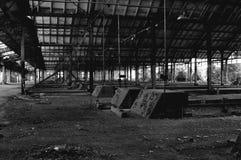 Estação de caminhos-de-ferro abandonado Fotografia de Stock