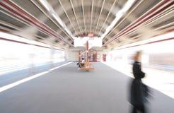 Estação de caminhos-de-ferro abstrato do borrão do zoom fotos de stock royalty free