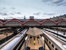 Estação de caminhos-de-ferro central em Copenhaga imagem de stock
