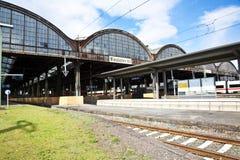 Estação de caminhos-de-ferro Classicistic do ferro Imagens de Stock