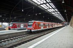 Estação de caminhos-de-ferro Classicistic do ferro do interior imagens de stock