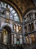 Estação de caminhos-de-ferro da central de Antuérpia Fotografia de Stock
