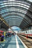 Estação de caminhos-de-ferro da central de Francoforte Imagens de Stock