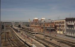 Estação de caminhos-de-ferro da vista na cidade de Kazan Rússia Imagem de Stock Royalty Free