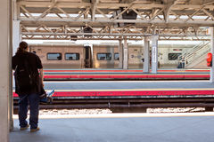Estação de caminhos-de-ferro das rainhas de Jamaica Imagem de Stock