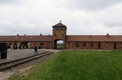 Estação de caminhos-de-ferro de Auschwitz II Imagem de Stock Royalty Free