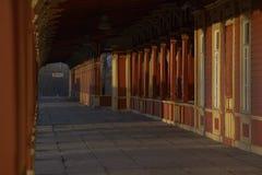 Estação de caminhos-de-ferro de madeira em Estónia Fotografia de Stock Royalty Free