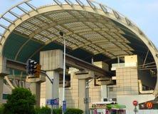 Estação de caminhos-de-ferro de Maglev em Shanghai foto de stock royalty free
