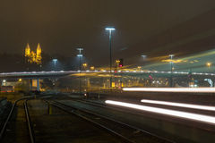 Estação de caminhos-de-ferro de Schwandorf Foto de Stock Royalty Free