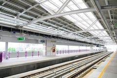 Estação de caminhos-de-ferro do céu Fotografia de Stock