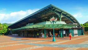 Estação de caminhos-de-ferro do recurso de Hong Kong Disneylândia Foto de Stock